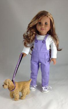 18 t Sweet & Sassy - salopette, Top et chaussures de Tennis pour American Girl poupées comme Léa, Grace, Isabelle, McKenna, Saige, Kit, Julie et…