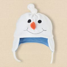 newborn - snowman fleece hat | Children's Clothing | Kids Clothes | The Children's Place