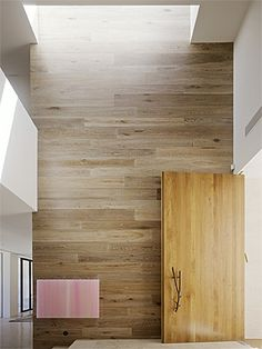 Smoked & Limed American Oak wall panelling. Yarra House : Leeton Pointon Architects www.royaloakfloors.com.au