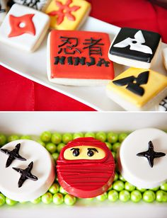 Awesome Lego Ninjago Inspired Birthday Party- cute treats
