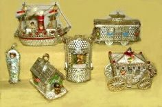 Sebnitz Ornaments made by Betsy Browning. About 2005