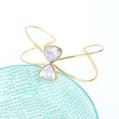 Venus Purple/Gold Bangle Bracelet