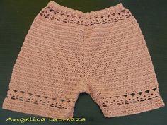 Angelica lucreaza: Pantaloni scurti crosetati Crochet Clothes, Lace Shorts, Women, Fashion, Tejidos, Moda, Women's, Fashion Styles, Woman