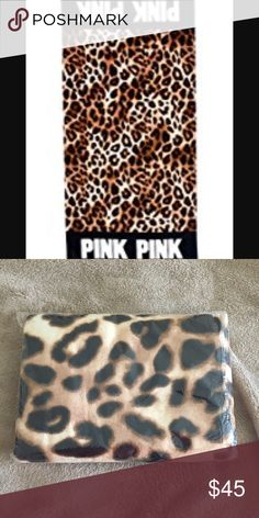 💞BN! Victoria's Secret PINK Cheetah beach towel💞 Brand new in online package!! HTF!! VS PINK Cheetah and black beach towel. Sooo cute and a must have!! Will Trade for other PINK items only. I paid a lot for this so if you don't like my price please move on.... TV $50. size is 28x58 PINK Victoria's Secret Other