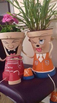 Best garden ideas pots fall 31 ideas garden is part of Flower pot art - Flower Pot Art, Flower Pot Design, Clay Flower Pots, Flower Pot Crafts, Clay Pot Crafts, Diy Clay, Flower Pot People, Clay Pot People, Painted Clay Pots