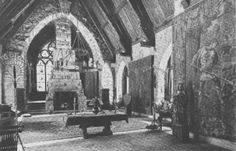 Description Wyntoon, Maybeck, 1906, Great Hall interior.jpg