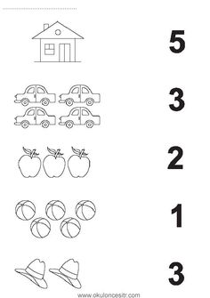 Number matching worksheet cards and preschool kindergarten . - Szilvia Szabó - Welcome to Pin World