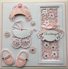 Christening Card by Sospecial Cards. Sue Wilson and Marianne Dies