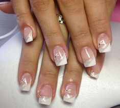 ideas nails art french blanche ongles for 2019 Square Nail Designs, French Nail Designs, Gel Nail Designs, Ongles Gel French, French Tip Gel Nails, Sparkle Gel Nails, Pink Nails, Simple Gel Nails, Trendy Nail Art