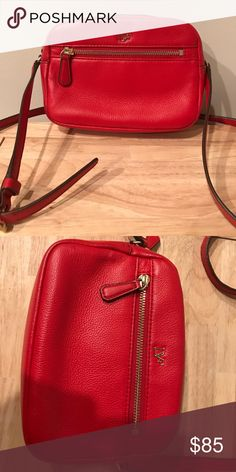 Red leather DF crossbody bag Red leather crossbody Diane Von Furstenberg Bags Crossbody Bags