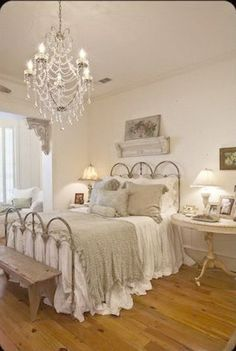Vintage Shabby Chic Bedroom Furniture Layout Ideas