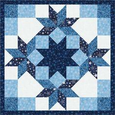 """Winter's Granduer Mini Quilt 1 Free Pattern: Robert Kaufman Fabric Company Dimensions: 26"""" x 26"""""""