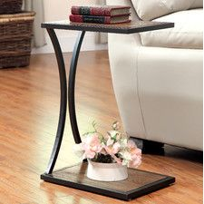 "Caldwell  End Table  Overall: 24"" H x 16"" W x 12"" D Overall Product Weight: 9lbs  $84.00"