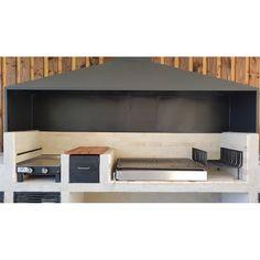 Outdoor Bbq Kitchen, Outdoor Barbeque, Barbecue Area, Outdoor Kitchen Design, Backyard Bar, Backyard Patio Designs, Built In Braai, Rooftop Terrace Design, Brick Bbq