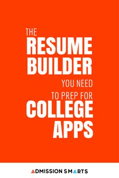 student resume builder organize your resume and activities student