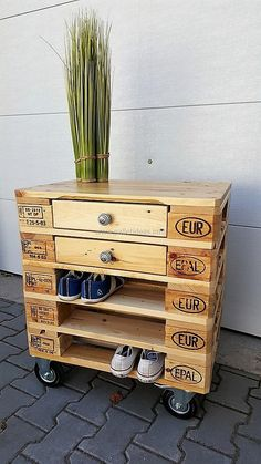 1 pallet side table cum shoe rack 2