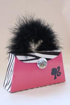 Barbie Birthday Zebra Purse Printable Party Favor Place Card or Treat Bag. $2.95, via Etsy.