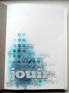 Au bout de mes doigts: 1er essai d'Art Journal