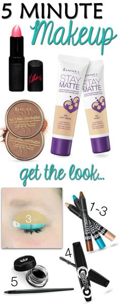 5 Minute Makeup Look  via www.hairsprayandhighheels.com #BeautyInspiration #Cbias #Shop #Makeup #MakeupTips #Beauty #BeautyTips @Rimmel Livera Livera Livera London US @Walmart