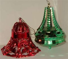 1960's christmas ornaments  I have that green one,from my childhood ~*