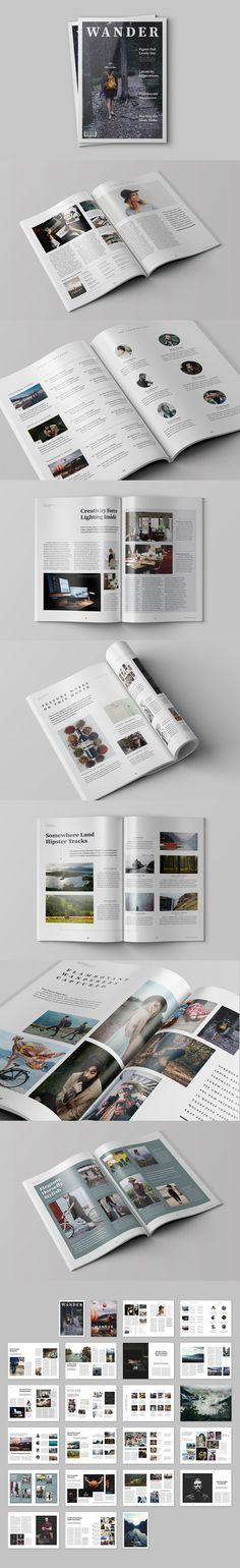 Wander Magazine 44 Pages Template InDesign INDD