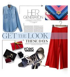 """Yoins 18 denim red"" by nataskaz ❤ liked on Polyvore featuring Converse, yoins, yoinscollection and loveyoins"