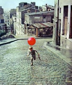 Belleville, Paris= from my favourite book as a child - The Red Balloon - just photos
