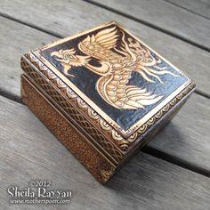 Phoenix Box Pyrography