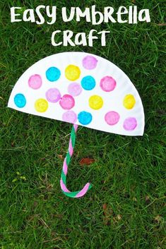 Rainy Day Paper Plate Umbrella Craft - The Chirping Moms - Toddler Crafts 🧶 Spring Arts And Crafts, Spring Toddler Crafts, Toddler Arts And Crafts, Spring Art Projects, Toddler Art Projects, Kids Crafts, Paper Plate Crafts For Kids, Daycare Crafts, Classroom Crafts