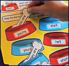 File Folder Phonics. Activities for teaching contractions and more!