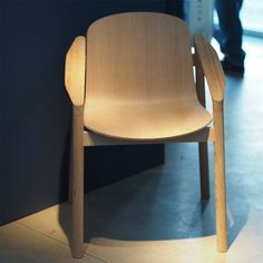 Tjøme is a formal dining chair inspired by the more casual typography of garden furniture