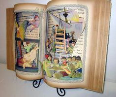 Altered book popup style 1931 vintage Peter by Raidersofthelostart
