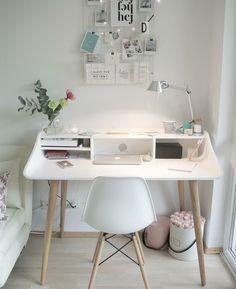 Home office inspo Bedroom Decor For Teen Girls, Room Ideas Bedroom, Teen Room Decor, Small Room Bedroom, Study Room Decor, Cute Room Decor, Home Office Design, Home Office Decor, Home Decor