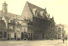 De Rozengracht in Zutphen met Broederenklooster rond 1920