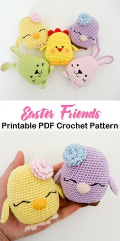 Make cute Easter buddies. This is a beginner crochet pattern. Beginner Amigurumi Crochet Patterns - Tips - A More Crafty Life Make cute Easter buddies. This is a beginner crochet pattern. Beginner Amigurumi Crochet Patterns - Tips - A More Crafty Life Crochet Easter, Bunny Crochet, Crochet Animal Amigurumi, Easter Crochet Patterns, Holiday Crochet, Crochet Patterns For Beginners, Cute Crochet, Crochet Crafts, Crochet Dolls