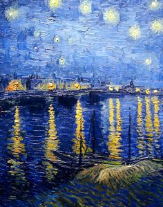 Painting this at Bottle and Bottega in Lakeview soon! - Vincent Van Gogh - Starry Night over the Rhone