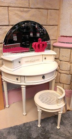 Every little girl would love to have this vanity in her bedroom! | Houston TX | Gallery Furniture |