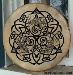 C e l t i c Bodhran Drum Hand painted by BrightArrow