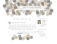 festive bokeh 2col free blog template layout
