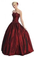 Ball Gown Strapless Formal Prom Dress #567 (8, Burgundy) Promo Discount | Wedding  Bridesmaid Dresses