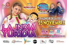 La  India Yuridia  en Aguascalientes - https://www.enterateaguascalientes.com/la-india-yuridia-en-aguascalientes