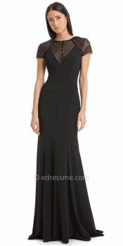 Modern Striped Evening Dress by JS Collections