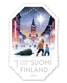 Joulupostimerkki 2015 - Christmas postage stamp 2015 Finland designed by Klaus Welp Christmas Themes, Christmas Cards, Christmas 2015, Christmas Traditions, Very Merry Christmas, Vintage Christmas, Commemorative Stamps, Love Stamps, Nouvel An