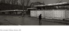 Kristoffer Albrecht, Man and Pipe, Odessa, Ukraine, 2004