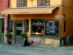 Cozy little cafe 'Chokladkoppen' in Gamla Stan, perfect for a 'fika'