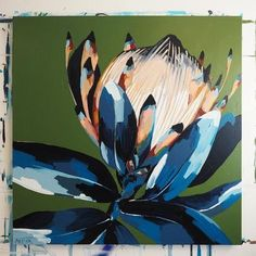 Anya Brock Protea paintings and prints as featured on The Block. Inspiration Art, Art Inspo, Canvas Art, Canvas Prints, Art Prints, Protea Art, Guache, Arte Floral, Art Graphique