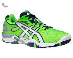 Gel-Dedicate 5, Chaussures de Tennis Homme, Blanc (White/Silver), 42 EUAsics