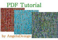 Polymer Clay Tutorial - Faux woven fabric sheet ,Rug Style,Tutorial , eBook ,PDF
