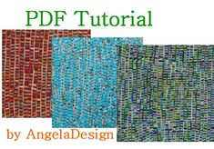 Polymer Clay Tutorial  Faux woven fabric sheet Rug by AngelaDesign