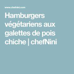 Hamburgers végétariens aux galettes de pois chiche | chefNini